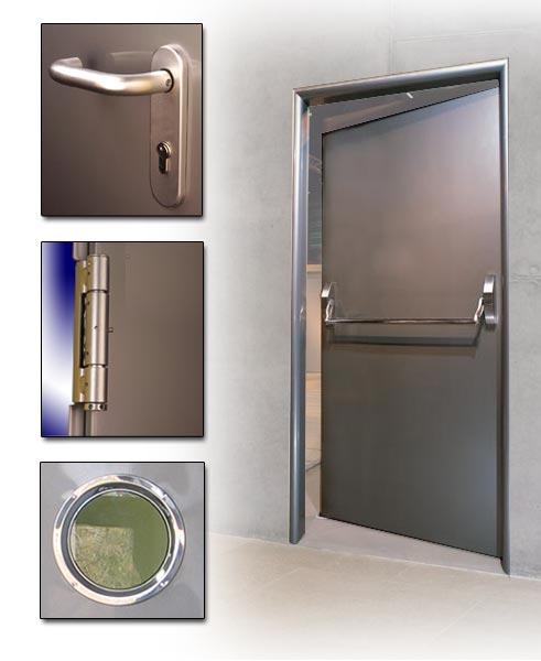 Медицинские двери из нержавеющей стали